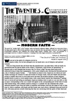Modern Faith, America in the 1920s, Primary Sources for Teachers