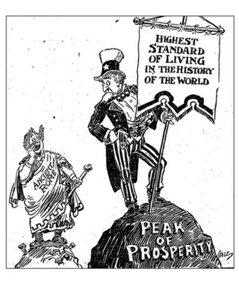 age of prosperity america in the 1920s primary sources for 1920s and 1930s Newspaper Ads political cartoon los angeles times nov 14 1925