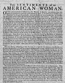 Civilians in the american revolution women margaret morris mary the sentiments of an american woman broadside appeal philadelphia 1780 spiritdancerdesigns Images
