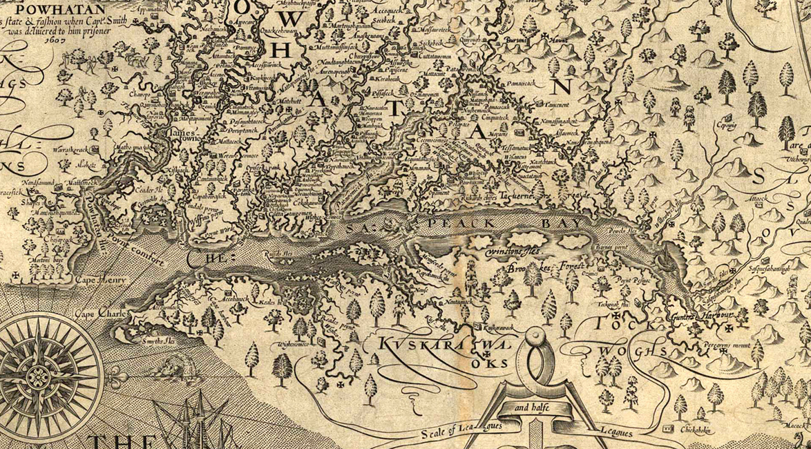 Smith's map of Virginia, 1624