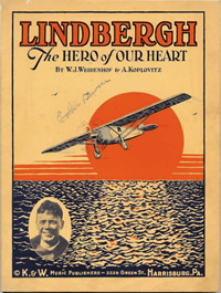 Lindbergh sheet music