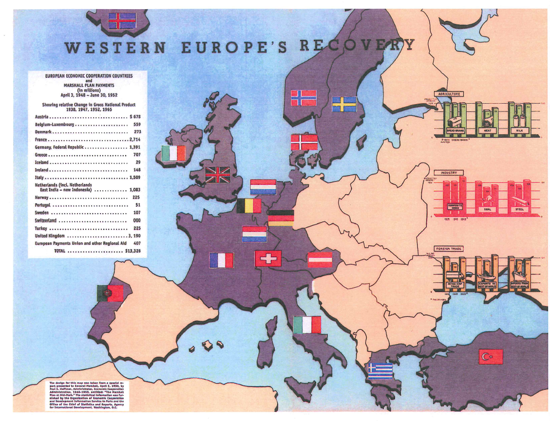 the marshall plan speech rhetoric and diplomacy america in western europe recovery map