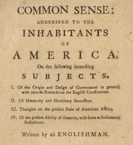 Thomas Paine S Common Sense Lesson Plan