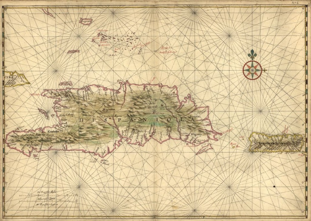 map of Hispaniola