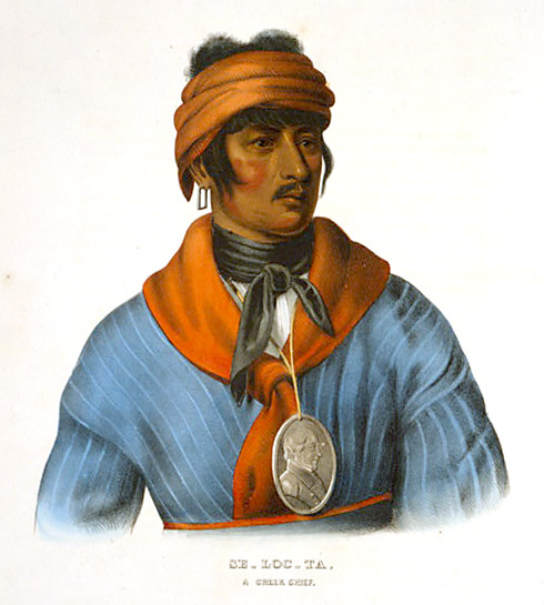 Se-loc-ta, a Creek chief, circa 1839