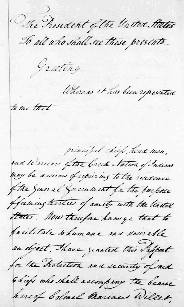 Washington letter, McGillivray