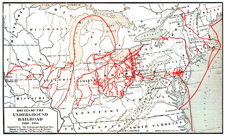 The Underground Railroad America In Class Resources For - Us railroad map 2015