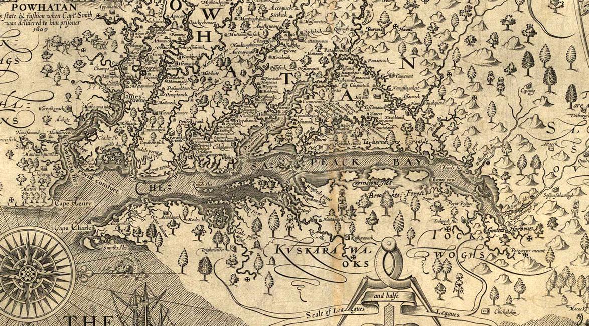 Smith's map of Virginia, 1624