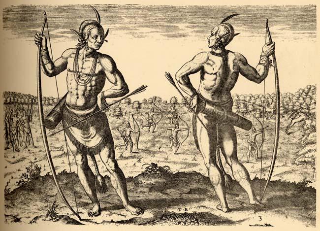 """Theodor de Bry, """"A weroan or great Lorde of Virginia,"""" 1590"""