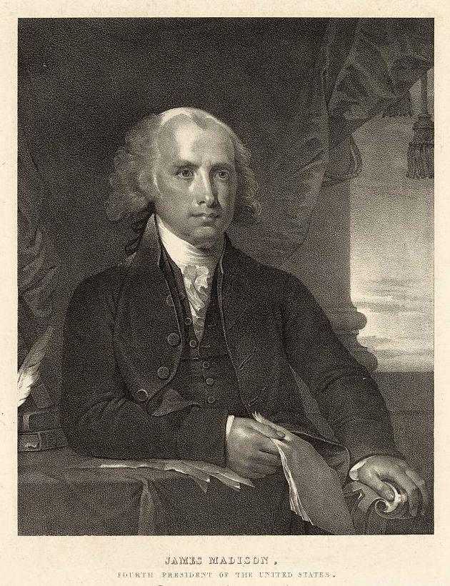 James Madison, lithograph, 1828