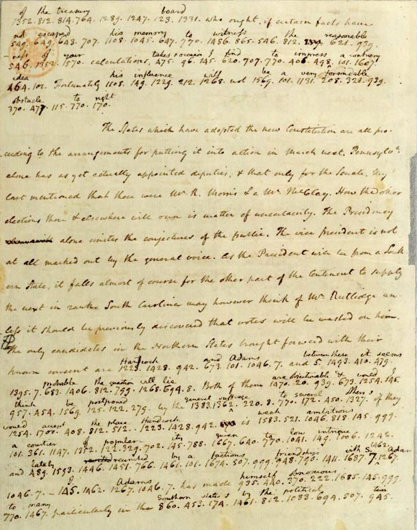 Letter from James Madison to Thomas Jefferson, October 17, 1788 (excerpt)