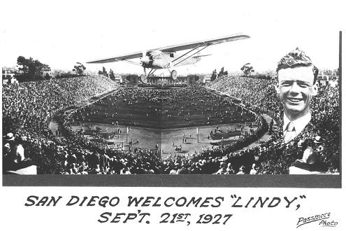 San Diego Welcomes Lindbergh