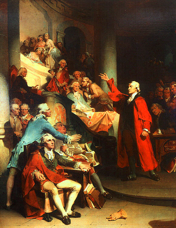 Patrick Henry's 'Treason' speech before the House of Burgesses