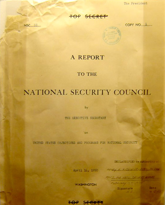 NSC 68, cover