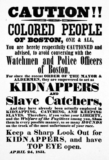 Caution! Colored People of Boston